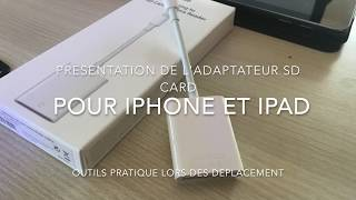 adaptateur carte sd apple pour Iphone/Ipad