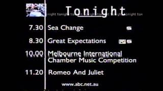 ABC TV - Sunday Night Programme Schedule (25/7/1999)