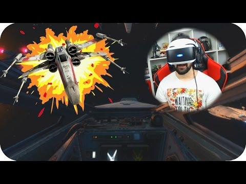 PILOTANDO UNA NAVE DE STAR WARS EN REALIDAD VIRTUAL!! | STAR WARS ROGUE ONE X-WING VR MISSION