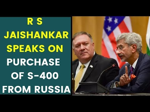 External Affair Minister S Jaishankar speaks on purchase of S-400 from Russia |NewsX