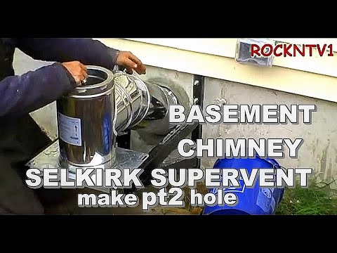 Supervent chimney flu Drill through the wall kit install PART2 making the hole