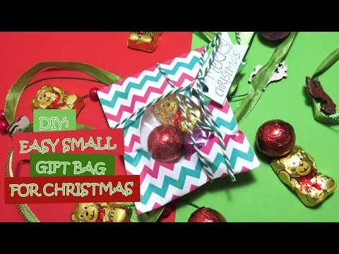DIY: Easy Small Paper Gift Bag for Christmas (Wrapping Ideas)