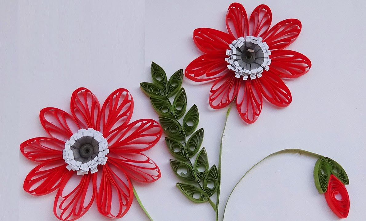 Paperquilling New Art Craft How To Make Beautiful Quilling Red