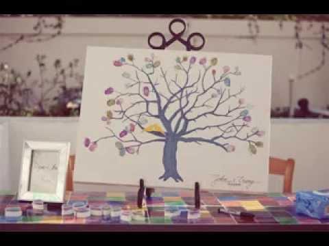 DIY Creative wedding party guest book ideas - YouTube