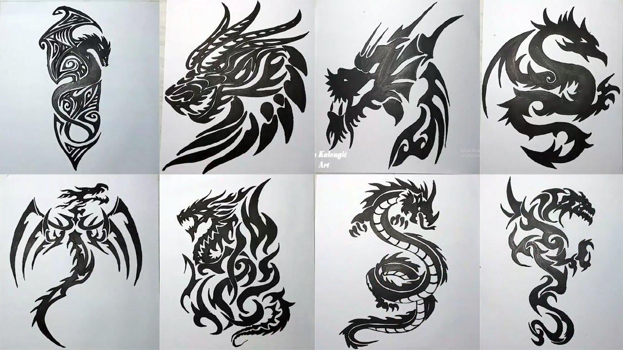 Koleksi Menggambar Tatto Tribal Dragon Full Vidio Keren Youtube