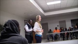 White Girl introduces herself as the Resident Assistant at Historically Black University