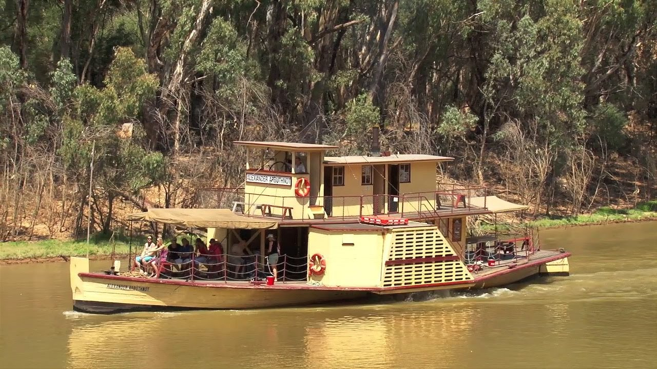 Paddle Boats : Murray River Paddle Steamers : The Alexander Arbuthnot - YouTube