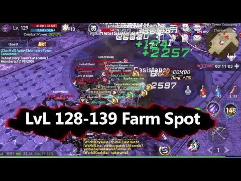 Lineage 2 Revolution lvl 128-139 Farm Spot