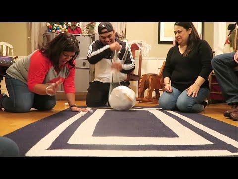 SARAN WRAP CHRISTMAS BALL GETS CRAZY!!!