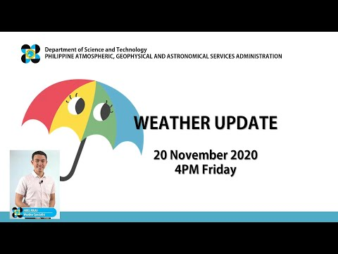 Public Weather Forecast Issued At 4:00 PM November 20, 2020