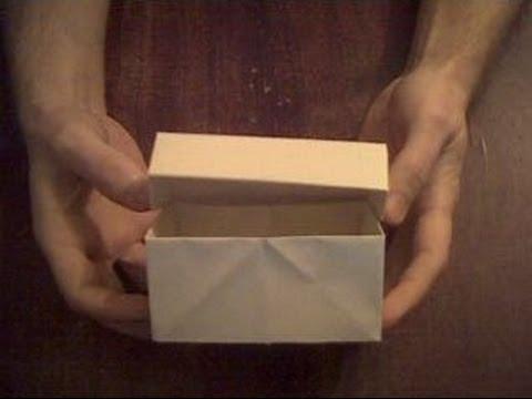 Смотреть Шкатулка из бумаги оригами  Stash Paper Origami