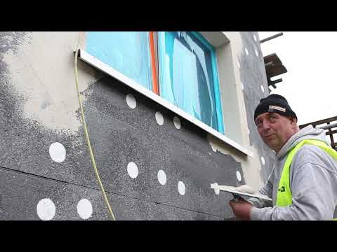 Application and installation of an external wall insulation