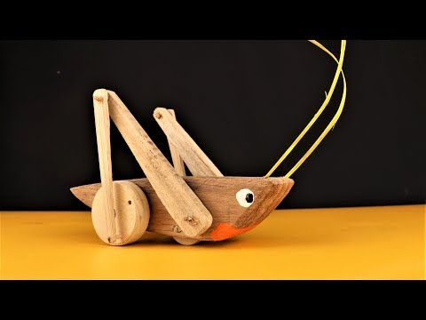 How to Make an Easy Grass Hopper Pull  toy. | DIY |