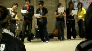 YFC mtd discovery camp 'o9 choral workshop singing Open the gates b...