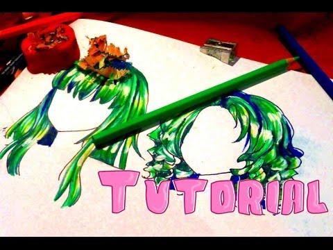 Как раскрасить аниме волосы
