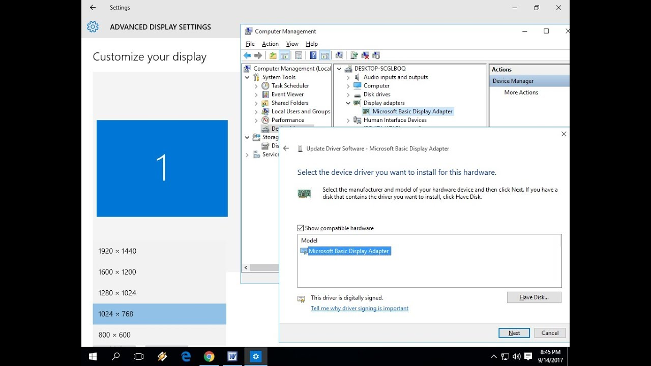 Easily Install Display Driver for your Laptop/PC Windows 10/8 1/7