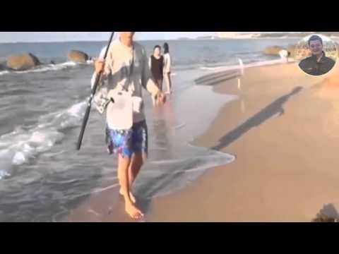 Cách câu cá bóng ngoài bãi biển