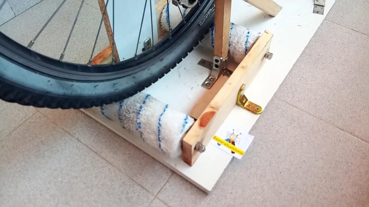Soporte Para Bicicleta Estatica Con Lo Que Tengo En Casa Youtube