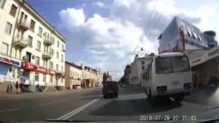 момент аварии на проспекте Ленина в Томске, 28.07.2019
