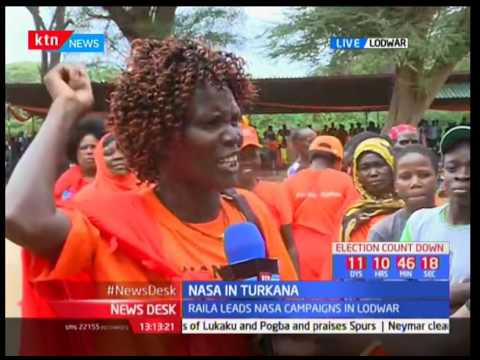 Raila Odinga leads NASA in Turkana charm offensive