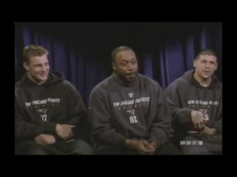 2011 Interview - Patriots - Crumpler, Gronkowski, Hernandez