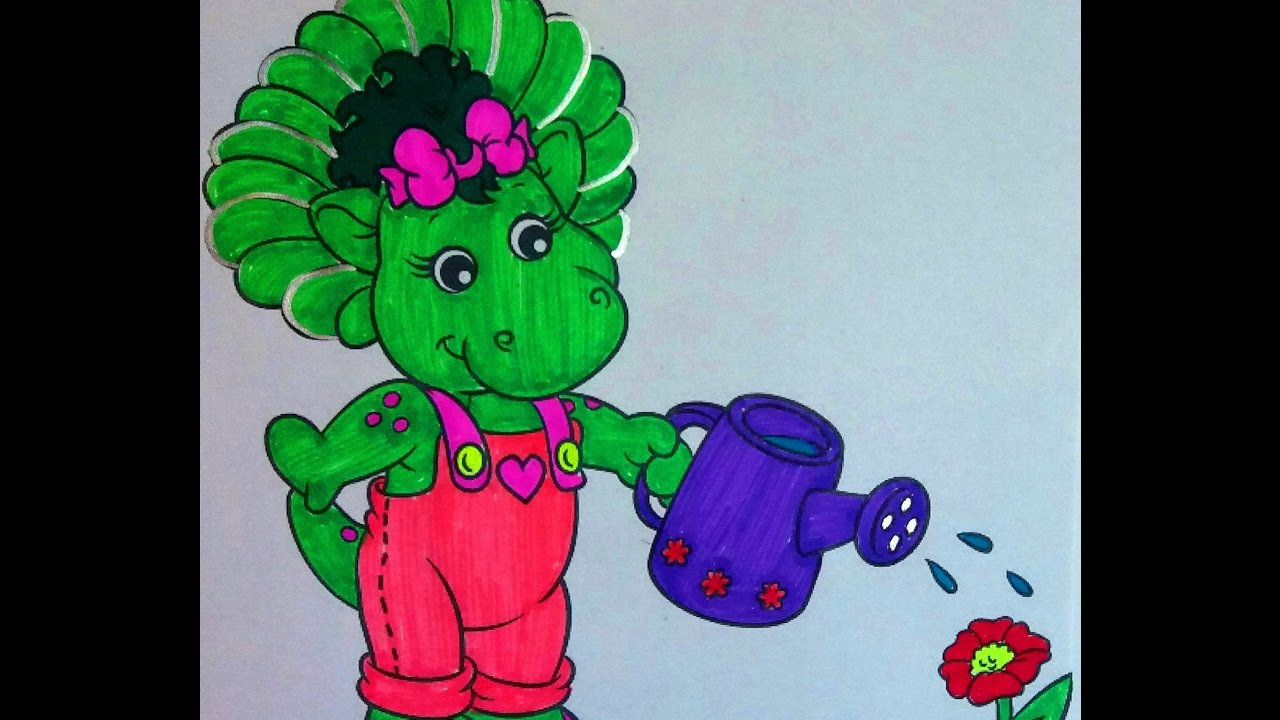 Barney and Friends Coloring Book Pages for Kids Fun Art - YouTube