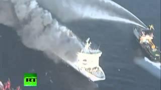 Паром горит на Балтике(, 2014-01-19T00:01:40.000Z)