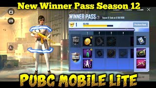NEW WINNER PASS Season 12 Is Here||PUBG MOBILE LITE (Full Review )Best Winner Pass For Ever