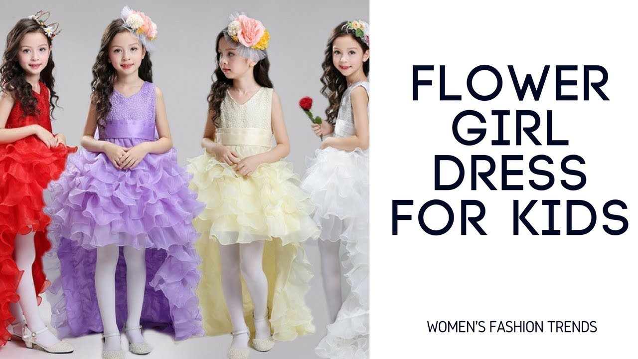 Flower Girl Dress For Kids | Girl Party Wedding Gowns | Baby Girl ...