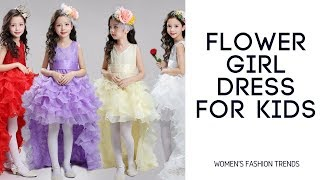 Flower Girl Dress For Kids | Girl Party Wedding Gowns | Baby Girl Clothes