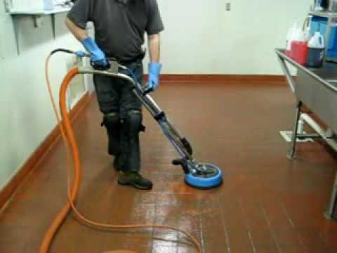 St Louis MO Tile/Grout Cleaning - Commercial Kitchen Cleaning - YouTube