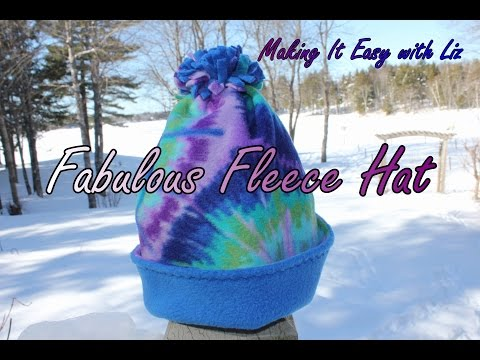 1 Hour FABULOUS FLEECE HAT - THE EASIEST and BEST Tutorial