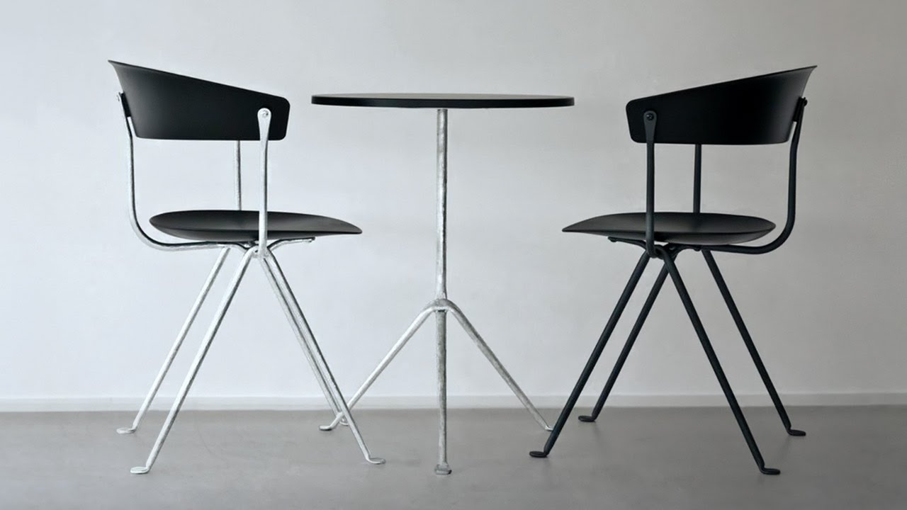 Bouroullec brothers forge wrought-iron frame for Officina furniture ...
