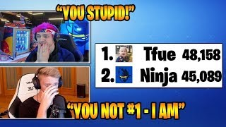 NINJA GETS *MAD* WHEN TFUE PASSES HIS SUB COUNT! (Fortnite Stream Highlights)