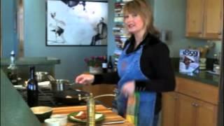 Lisa Glickman - Pan Seared Scallops With Sweet Pea Puree, Pancetta And Microgreens Salad