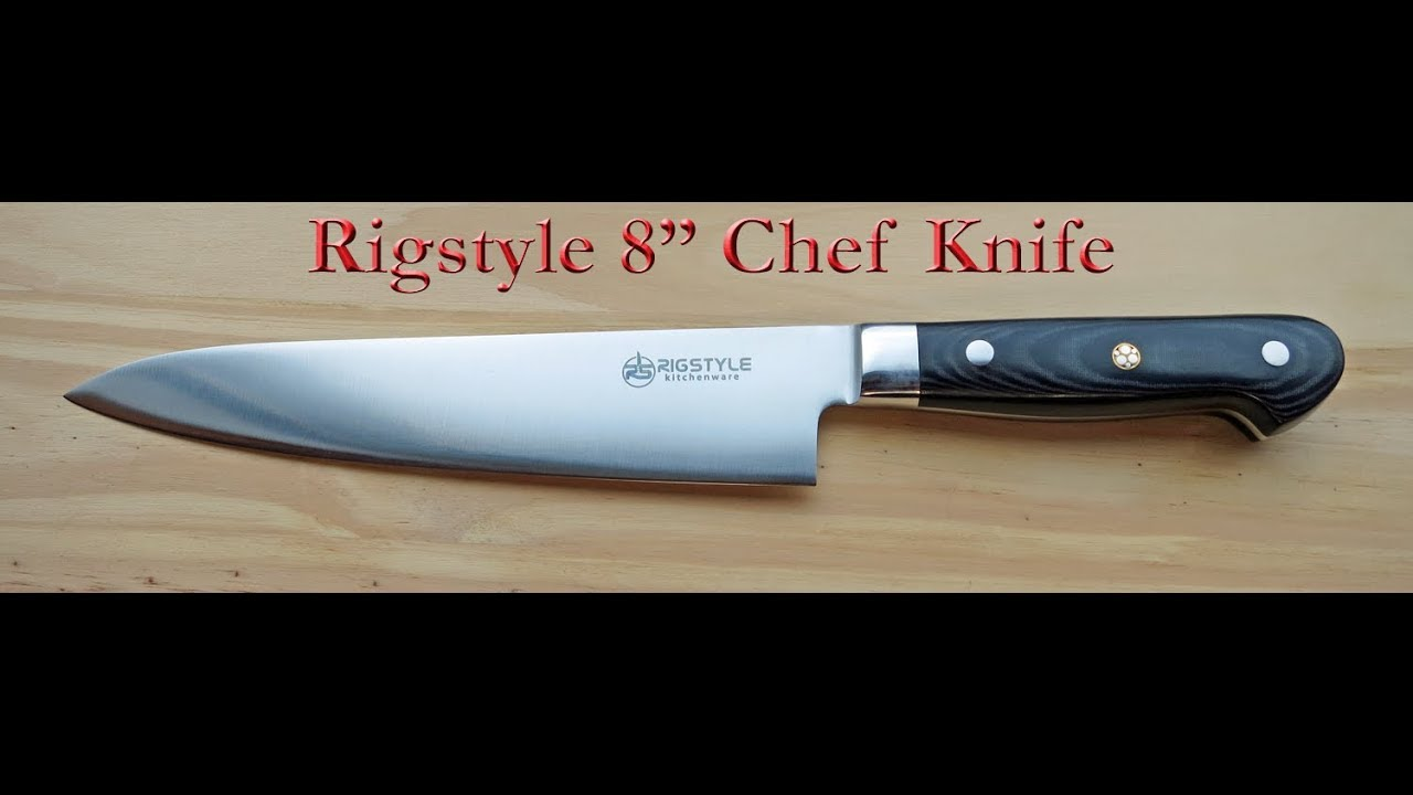 rigstyle 8 chef knife review youtube. Black Bedroom Furniture Sets. Home Design Ideas