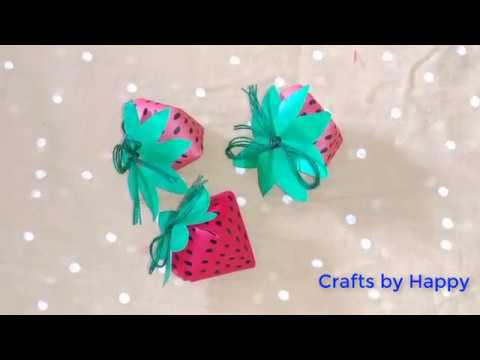 strawberry paper craft | How to make paper strawberry | Easy Paper Crafts DIY | Crafts by Happy