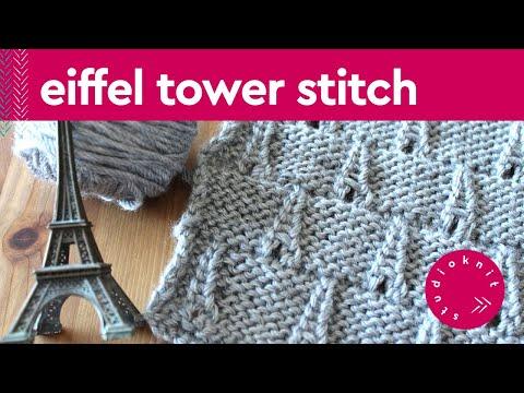 Eiffel Tower Eyelet Knit Stitch Pattern Youtube