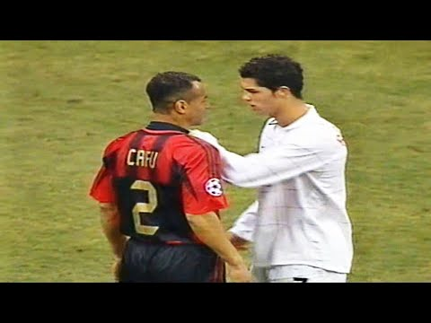The Young Cristiano Ronaldo Vs Legends & Great Players