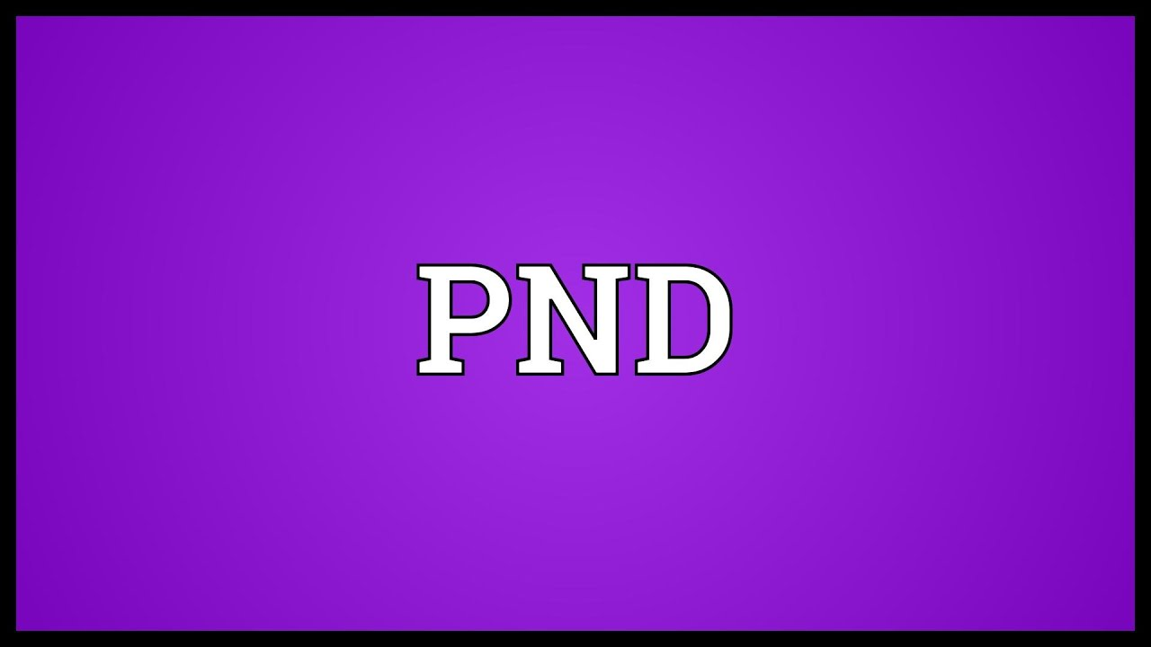 What is PND in medical terms