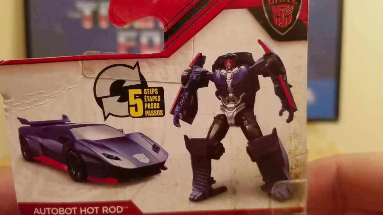 HOT ROD Action Figure DELUXE CLASS Wal Mart Exclusive TRANSFORMERS Last Knight
