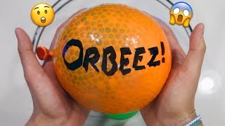 Popping HUGE DIY Orbeez Stress Ball! Making Orbeez Slime with Balloons!