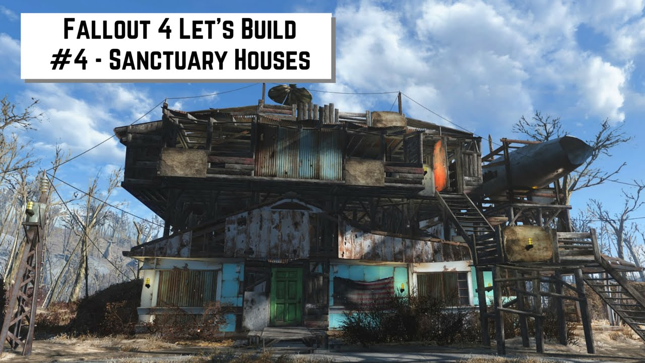 Fallout 4 let 39 s build 4 sanctuary houses youtube for Best house designs fallout 4