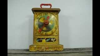 Fisher Price Music Box Clock Vintage 1964 Toy Tick Tock