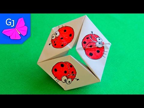 Как сделать волшебное кольцо оригами из бумаги видео