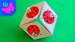 Бесконечная 3D открытка Волшебное Кольцо ❀ Движущиеся оригами своими руками