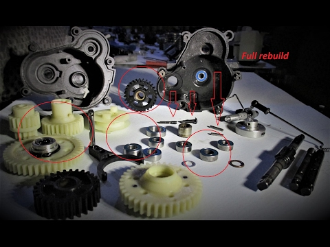 traxxas-revo-3.3-✓✓-gearbox-full-assembly-truck-track-racing-car-pro-rc-remote-2017-feb-gears