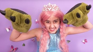 Monster Under The Bed! 👹 Princesses In Real Life | Kiddyzuzaa