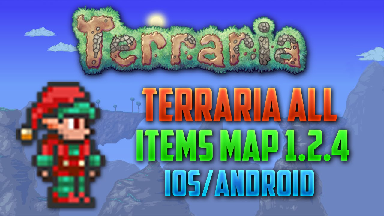 Terraria All Items Map 1.2.4 IOS/Android