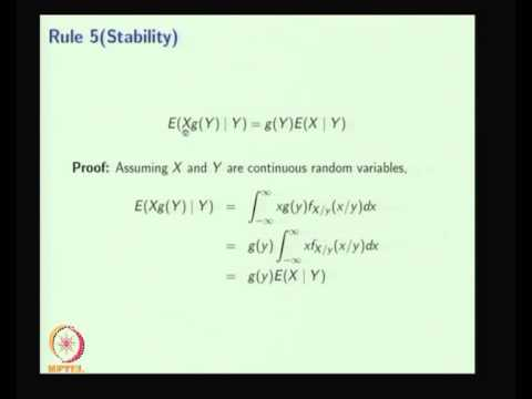 Mod-06 Lec-01 Conditional Expectation and Filtration